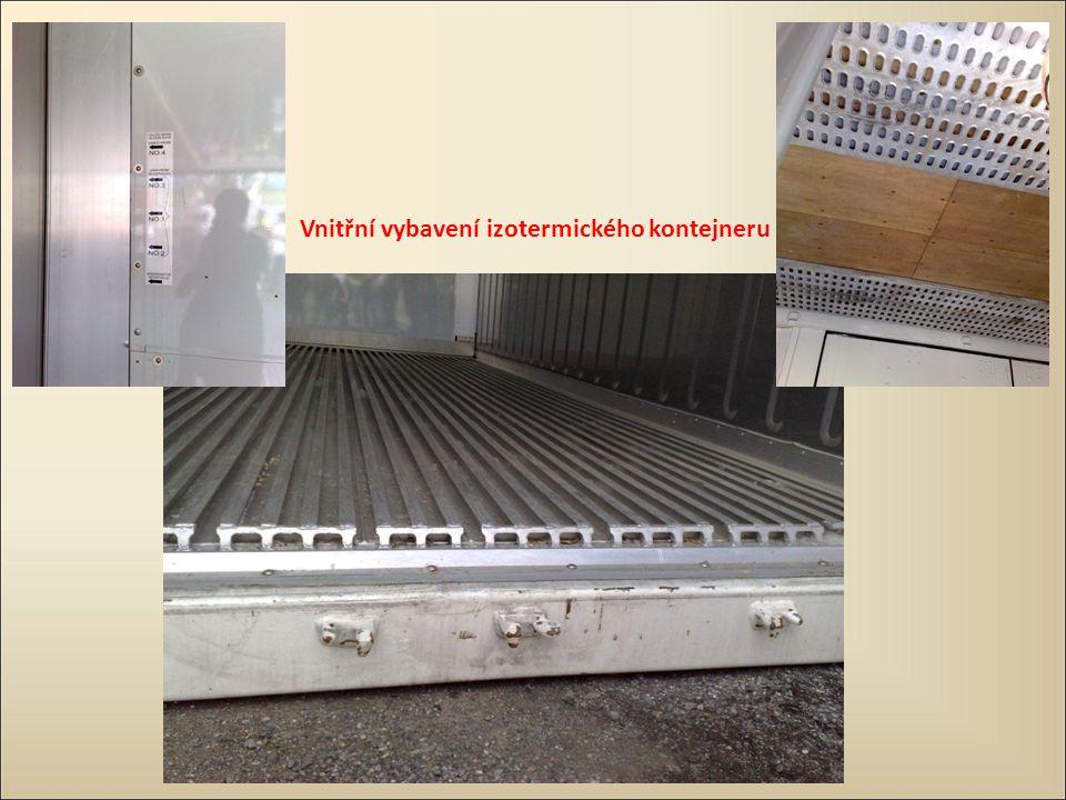 Vnitřní vybavení izotermického kontejneru