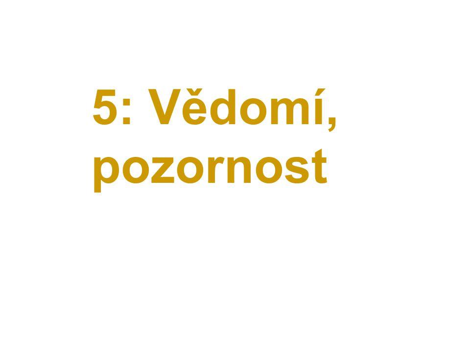 5: Vědomí, pozornost