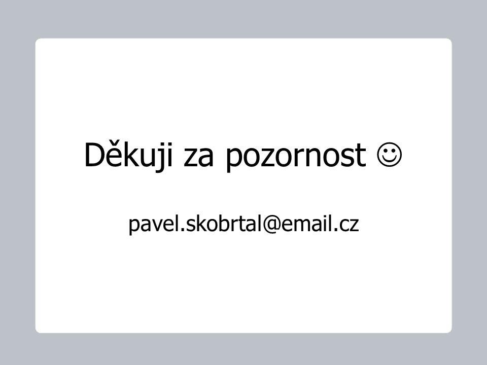 Děkuji za pozornost pavel.skobrtal@email.cz