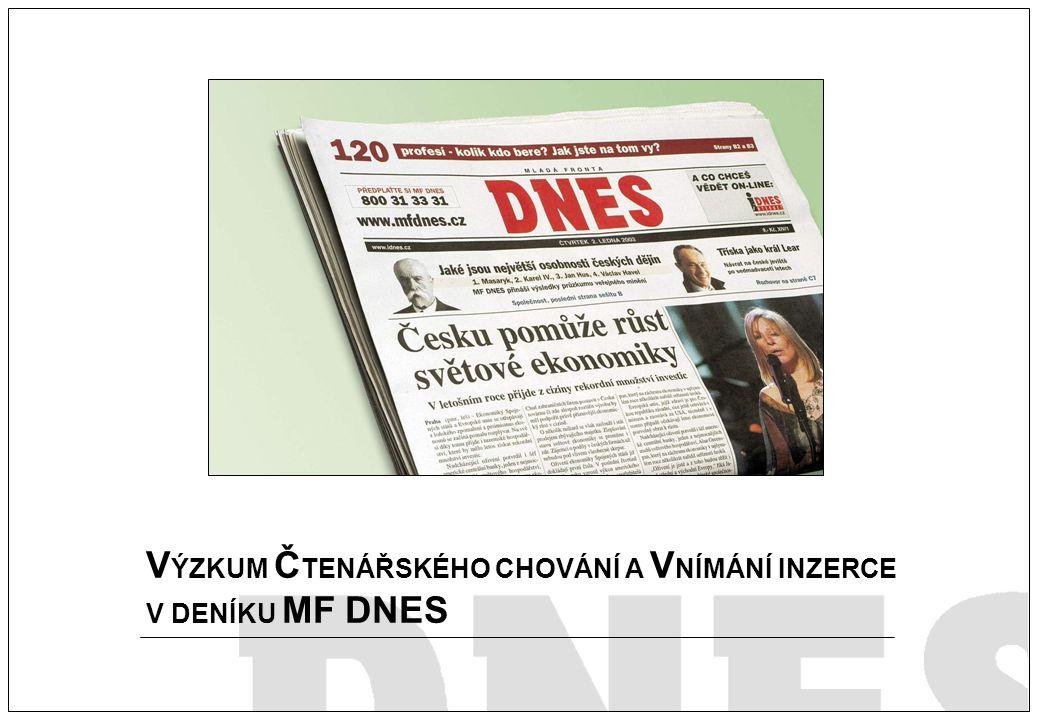 Titulní strana V ÝZKUM Č TENÁŘSKÉHO CHOVÁNÍ A V NÍMÁNÍ INZERCE V DENÍKU MF DNES