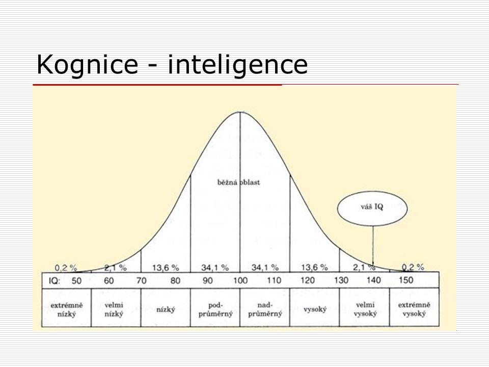 Kognice - inteligence