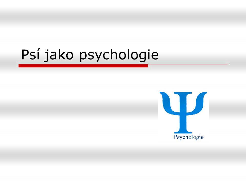 Psí jako psychologie