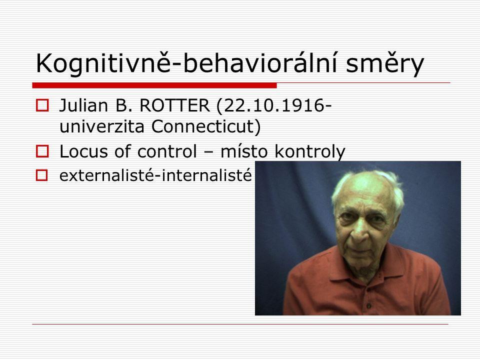 Kognitivně-behaviorální směry  Julian B.