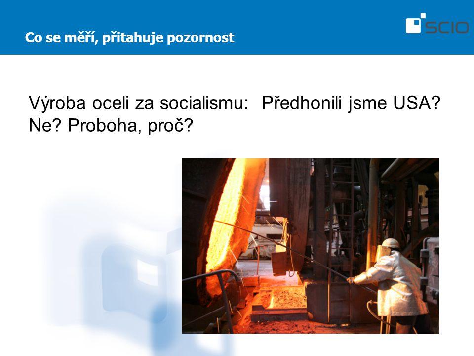 Co se měří, přitahuje pozornost Výroba oceli za socialismu: Předhonili jsme USA Ne Proboha, proč