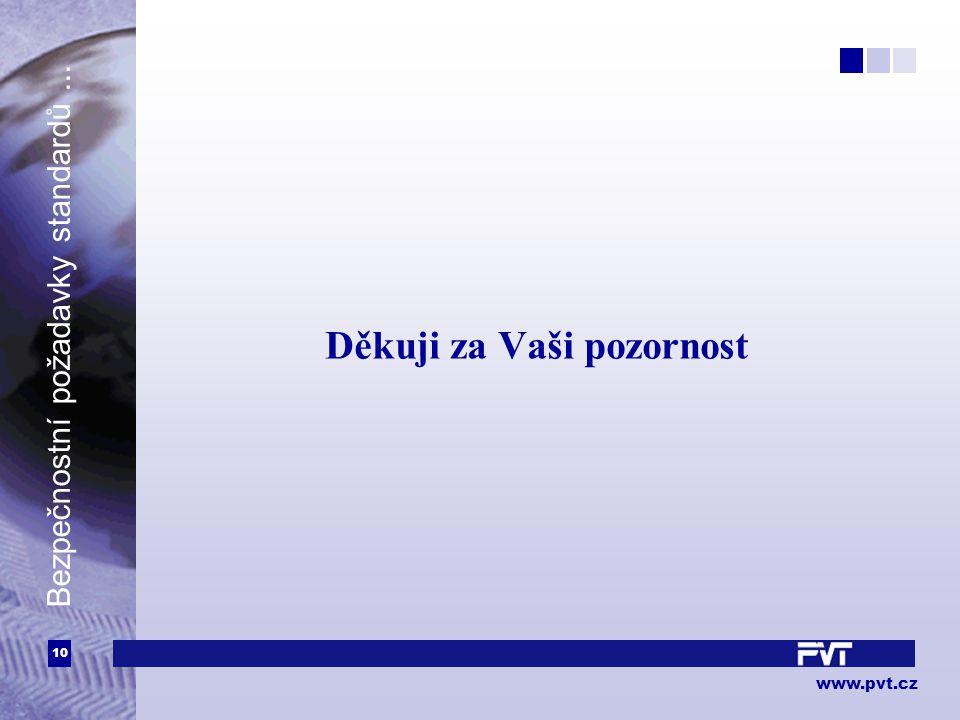 10 www.pvt.cz Bezpečnostní požadavky standardů... Děkuji za Vaši pozornost