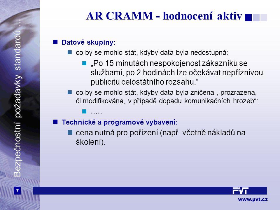 7 www.pvt.cz Bezpečnostní požadavky standardů...
