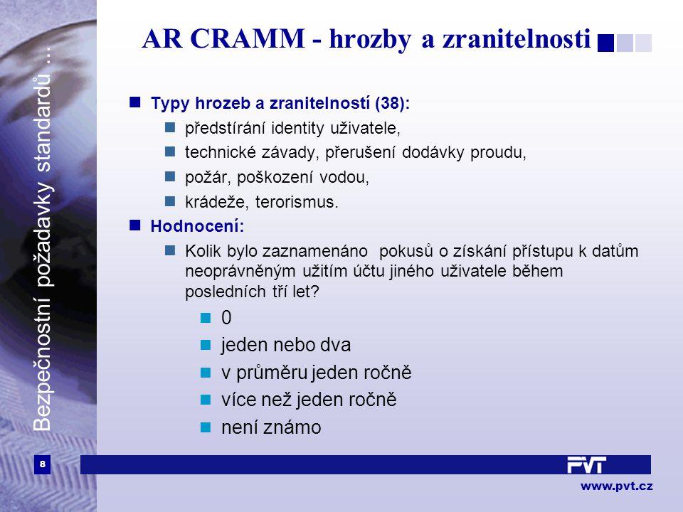 8 www.pvt.cz Bezpečnostní požadavky standardů...