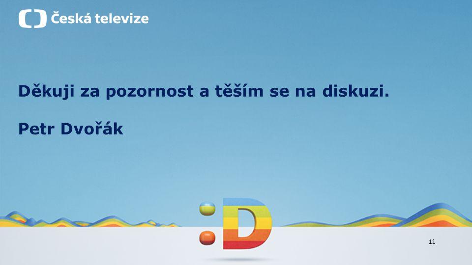 11 Děkuji za pozornost a těším se na diskuzi. Petr Dvořák