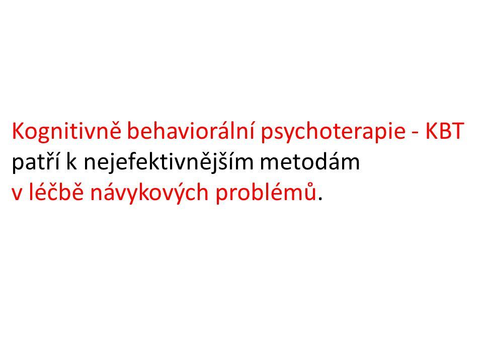 Kognitivně behaviorální psychoterapie - KBT patří k nejefektivnějším metodám v léčbě návykových problémů.