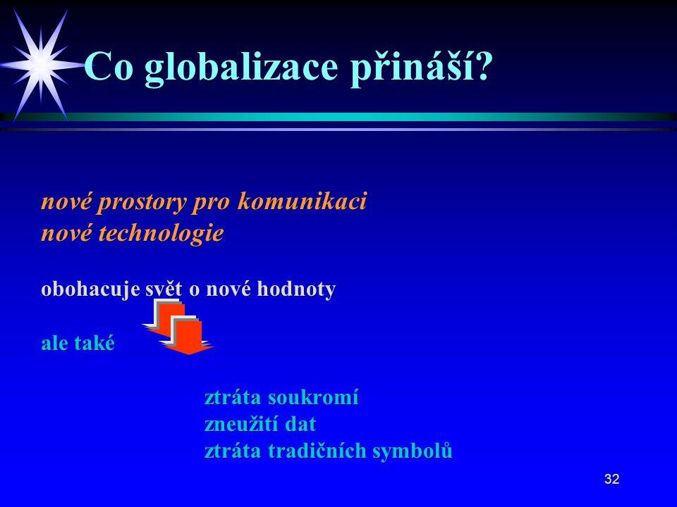 32 Co globalizace přináší.