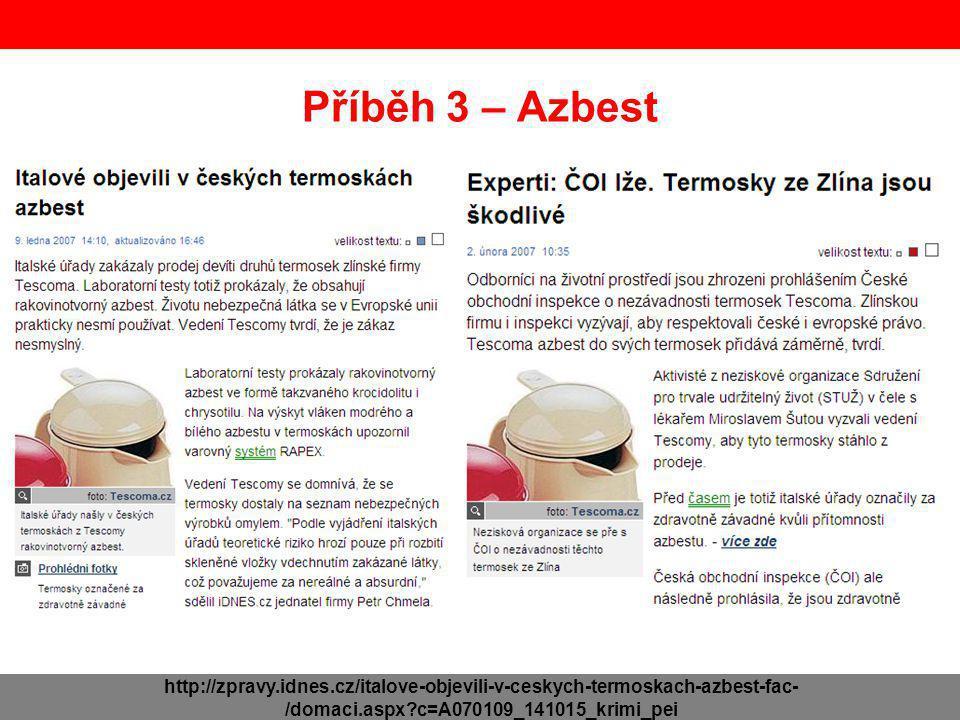 Příběh 3 – Azbest http://zpravy.idnes.cz/italove-objevili-v-ceskych-termoskach-azbest-fac- /domaci.aspx?c=A070109_141015_krimi_pei