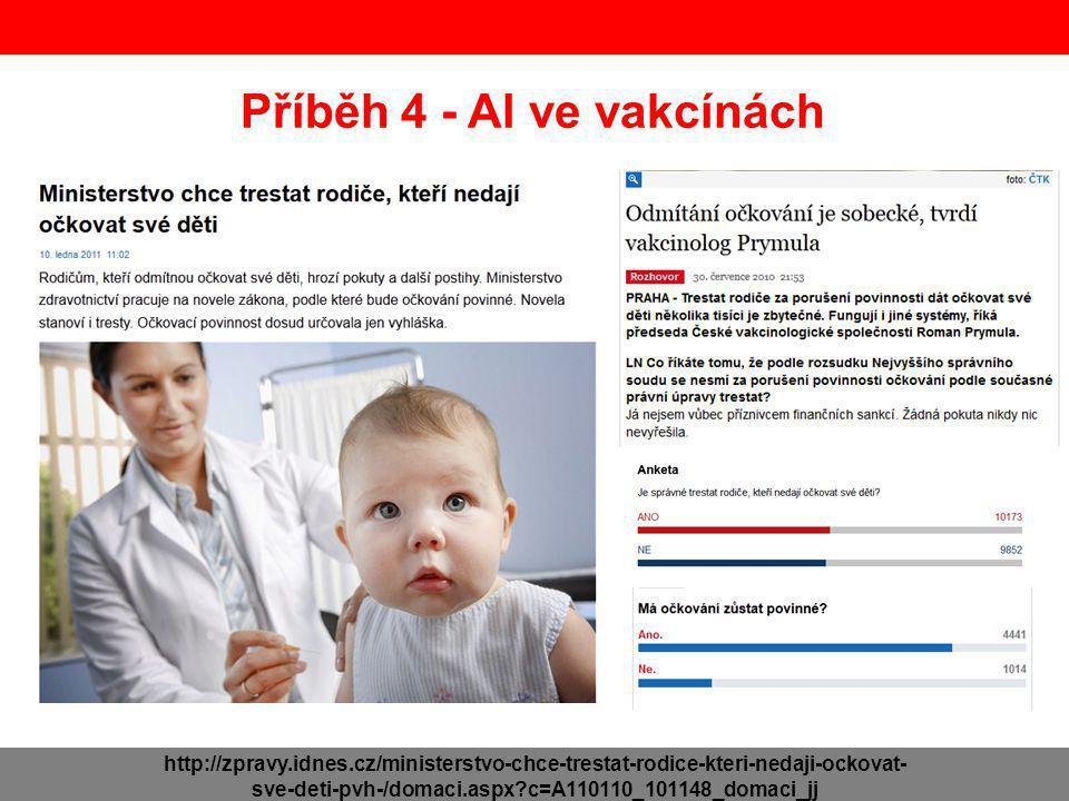 Příběh 4 - Al ve vakcínách http://zpravy.idnes.cz/ministerstvo-chce-trestat-rodice-kteri-nedaji-ockovat- sve-deti-pvh-/domaci.aspx?c=A110110_101148_domaci_jj