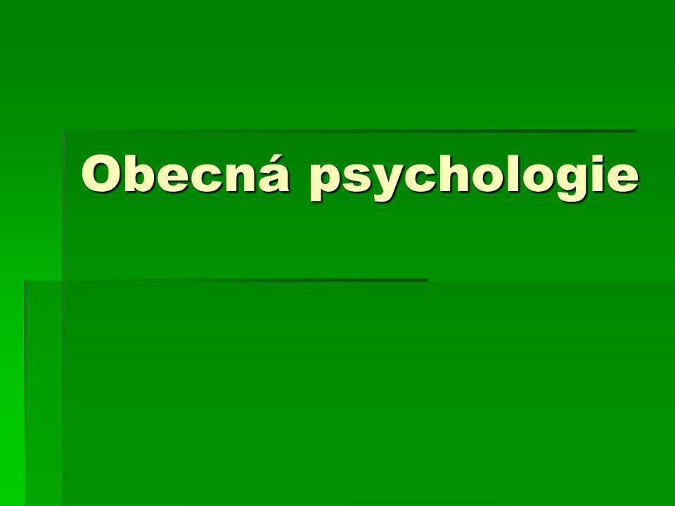 Obecná psychologie- myšlení  Test stadia formálních operací: kyvadlo a závaží.