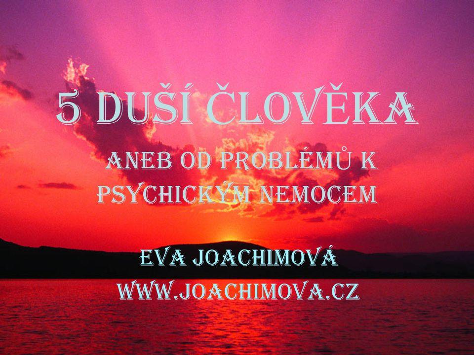 5 duší Č lov Ě ka ANEB OD PROBLÉM Ů K PSYCHICKÝM NEMOCEM Eva Joachimová www.joachimova.cz