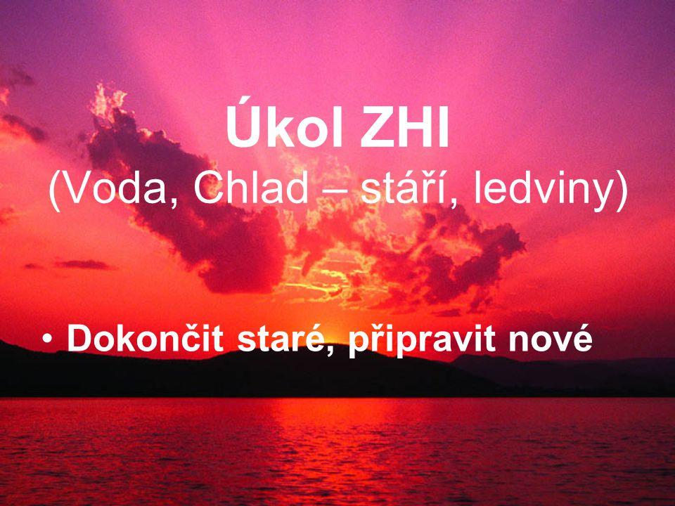 Úkol ZHI (Voda, Chlad – stáří, ledviny) Dokončit staré, připravit nové