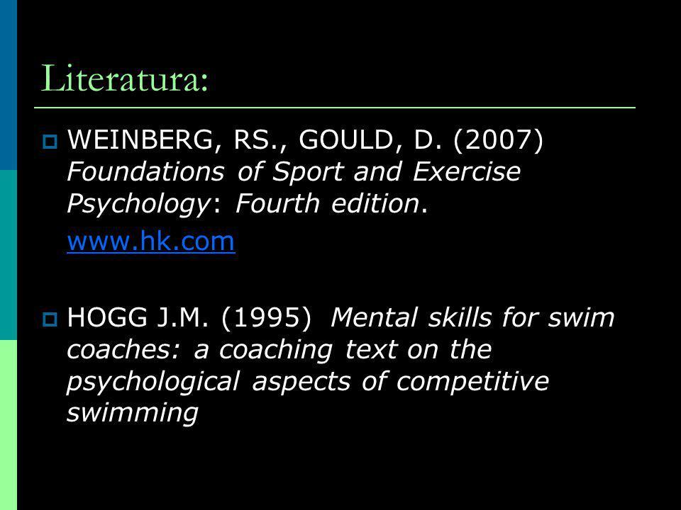 Obecné zaměření cílů  na proces (na mistrovství, na úkol) vlastní standard učení se kontrola  na výsledek (závodní orientace, ego- orientace) motivace výhrou popř.