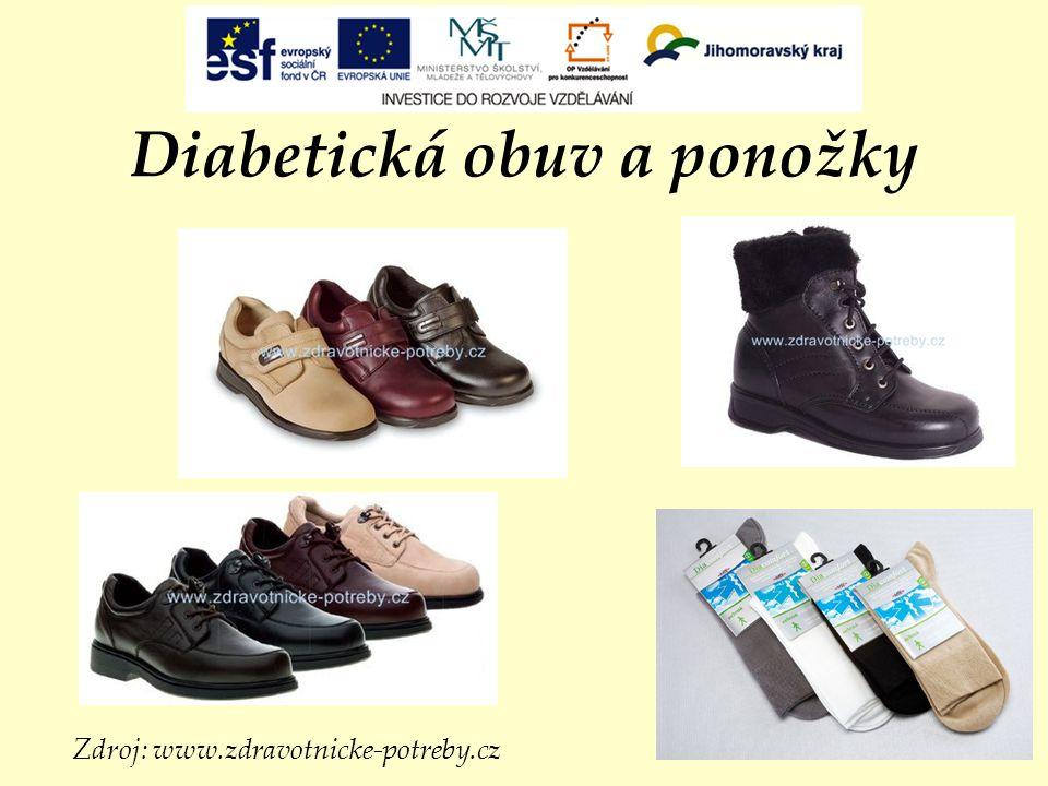 Diabetická obuv a ponožky Zdroj: www.zdravotnicke-potreby.cz