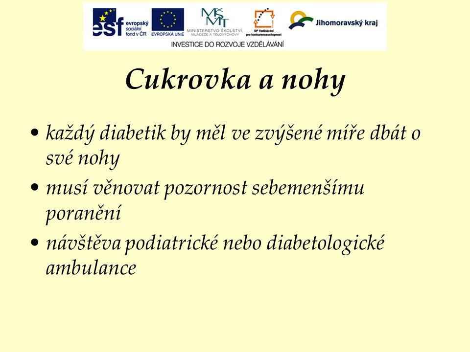 Syndrom diabetické nohy Foto: J. Havránková