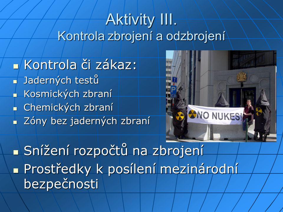 Aktivity III.
