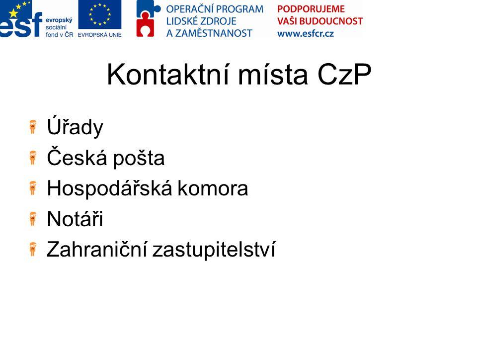 Czech POINT Hardware a software Certifikáty, tokeny a kryptografie Důležité odkazy Portál ePUSA Administrace Czech POINT