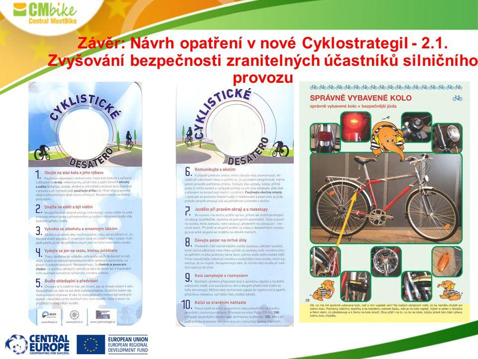 Závěr: Návrh opatření v nové CyklostrategiI - 2.1.