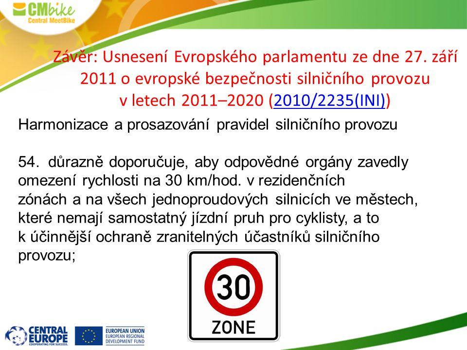 Závěr: Usnesení Evropského parlamentu ze dne 27.