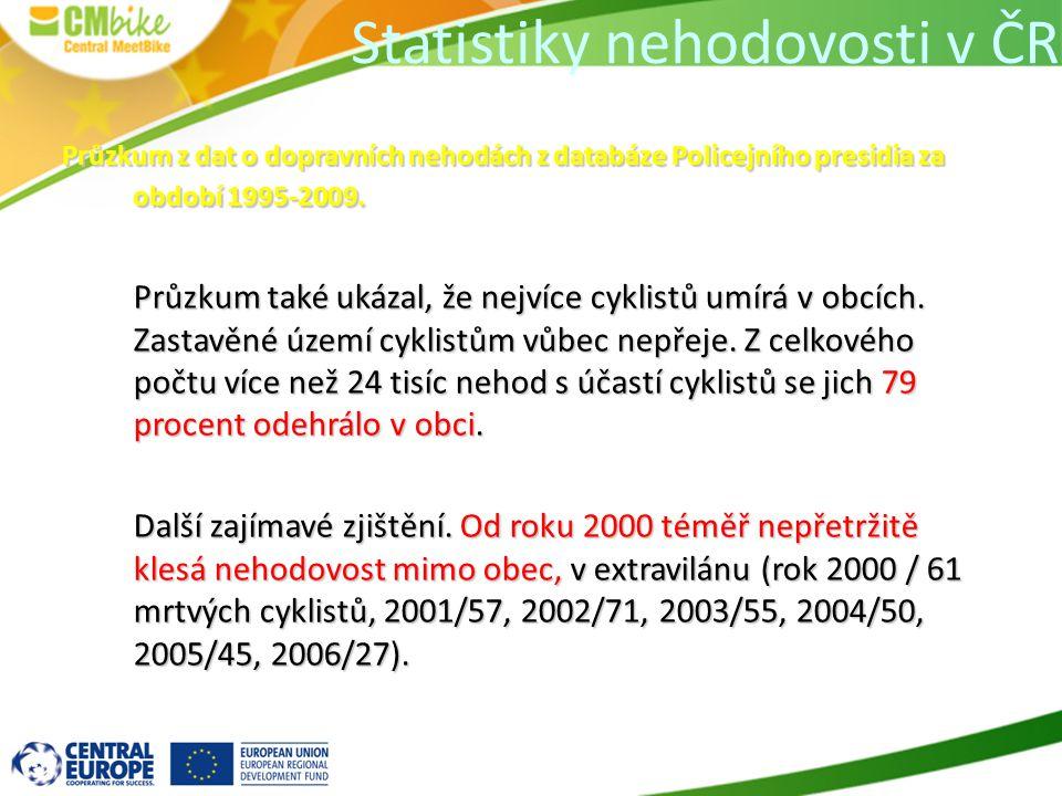 Statistiky nehodovosti v ČR Průzkum z dat o dopravních nehodách z databáze Policejního presidia za období 1995-2009.