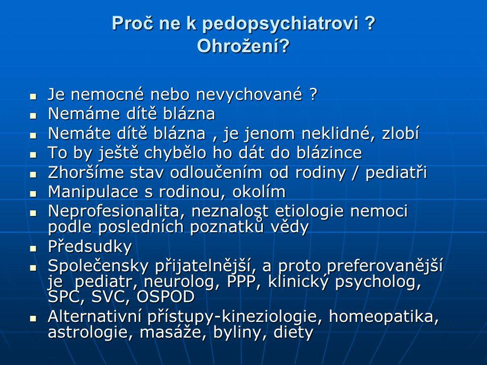 Proč ne k pedopsychiatrovi ? Ohrožení? Je nemocné nebo nevychované ? Je nemocné nebo nevychované ? Nemáme dítě blázna Nemáme dítě blázna Nemáte dítě b