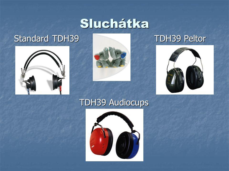 Audiometry Časté poruchy Přerušené vodiče kabelů Přerušené vodiče kabelů Špatný kontakt v konektorech, průchody do komory Špatný kontakt v konektorech