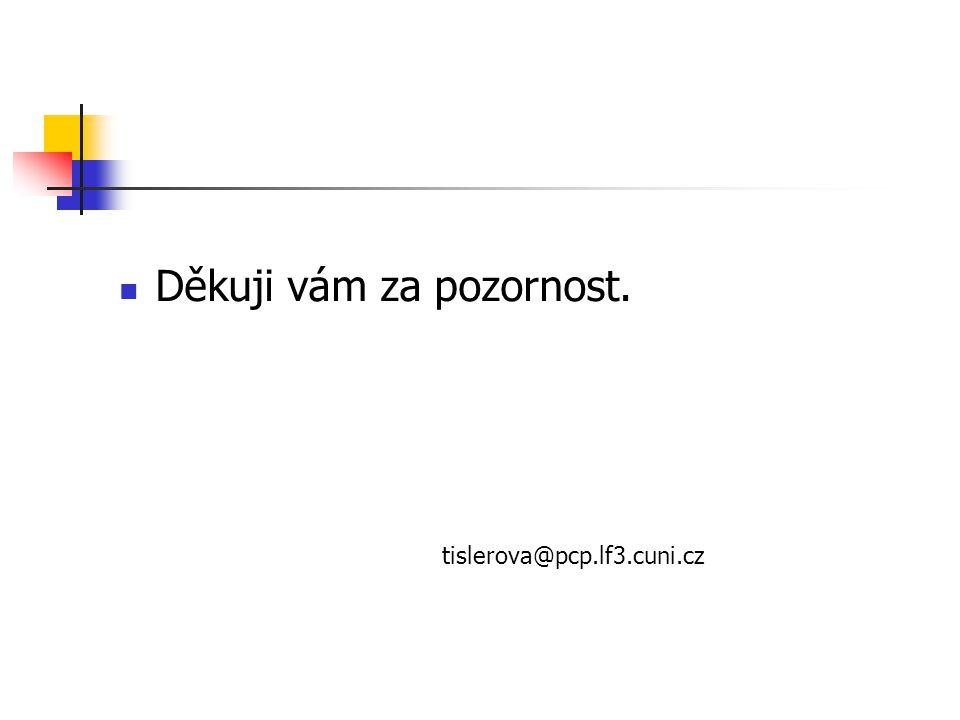 Děkuji vám za pozornost. tislerova@pcp.lf3.cuni.cz
