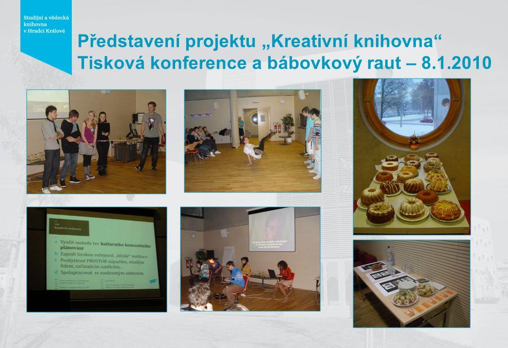"""Představení projektu """"Kreativní knihovna Tisková konference a bábovkový raut – 8.1.2010"""