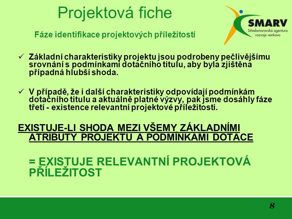 9 Projektová fiche Osnova fiche projektu KDO .KDE.