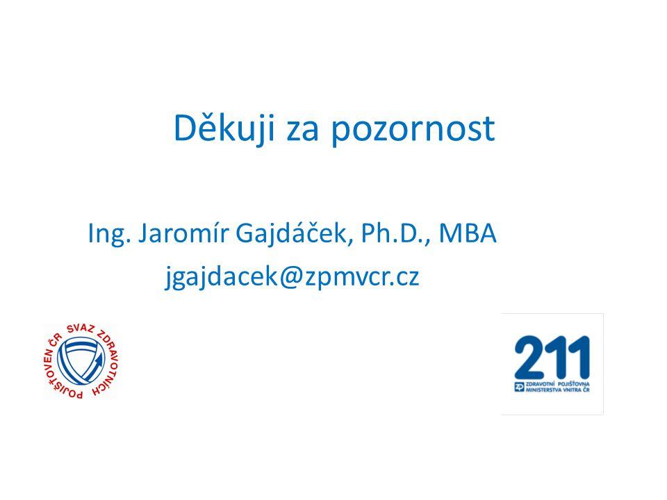 Děkuji za pozornost Ing. Jaromír Gajdáček, Ph.D., MBA jgajdacek@zpmvcr.cz