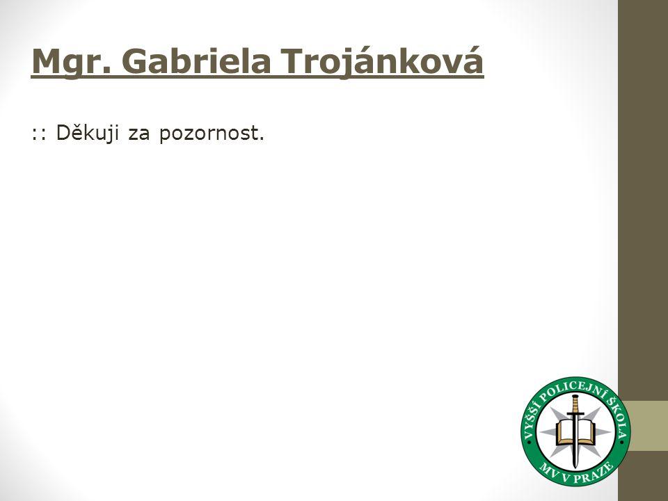Mgr. Gabriela Trojánková :: Děkuji za pozornost.