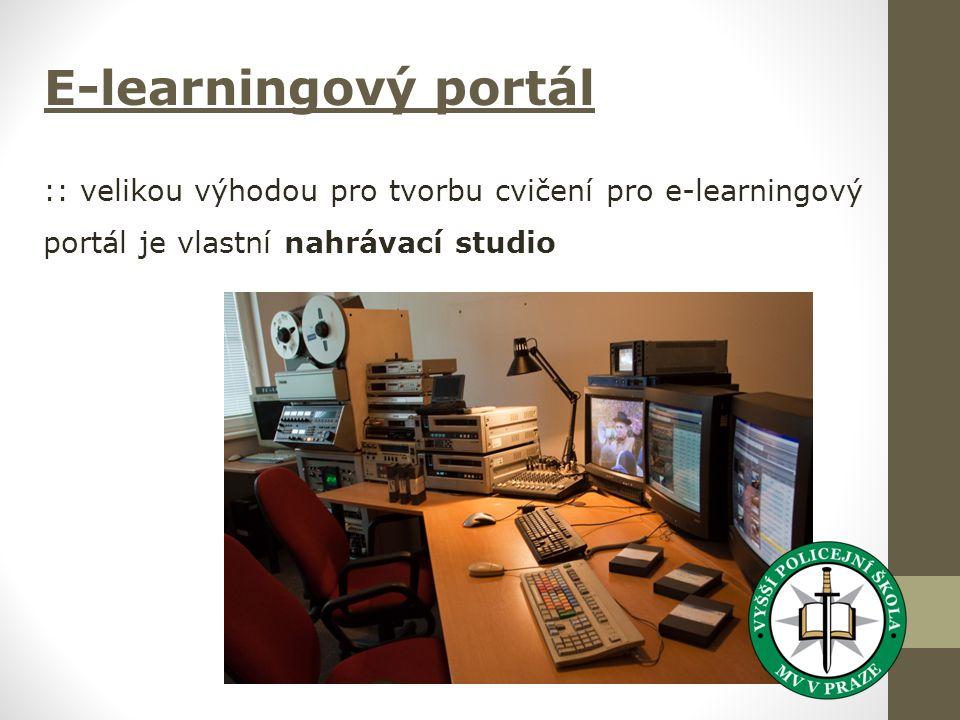 E-learningový portál :: velikou výhodou pro tvorbu cvičení pro e-learningový portál je vlastní nahrávací studio