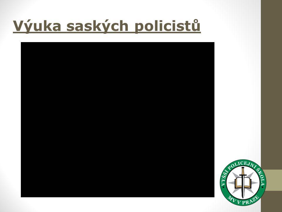 Výuka saských policistů