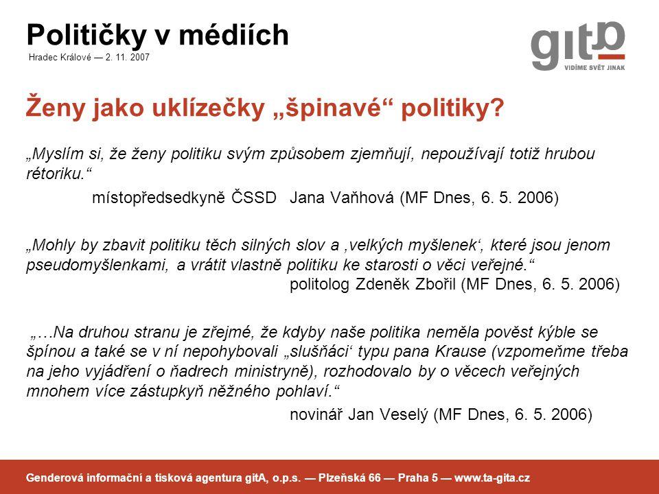 Političky v médiích Hradec Králové — 2.11.