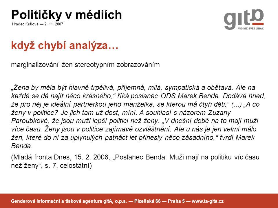 Političky v médiích Hradec Králové — 2. 11.