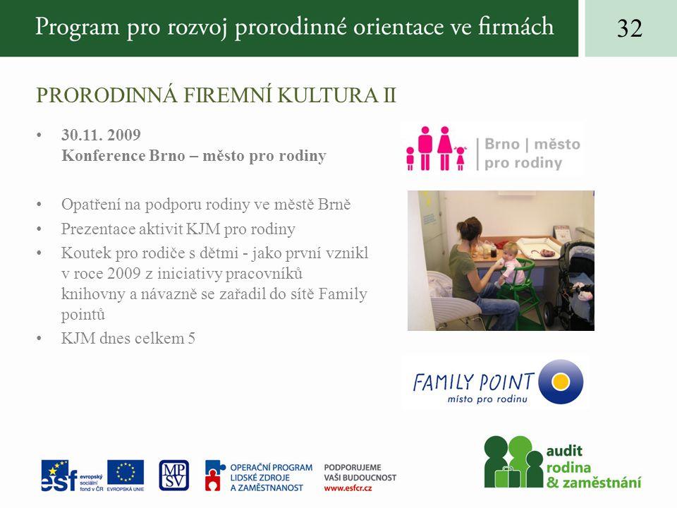 PRORODINNÁ FIREMNÍ KULTURA II 30.11.