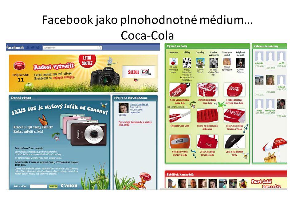 Facebook jako plnohodnotné médium… Coca-Cola