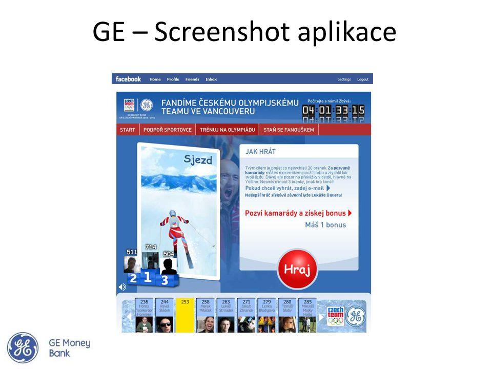 GE – Screenshot aplikace