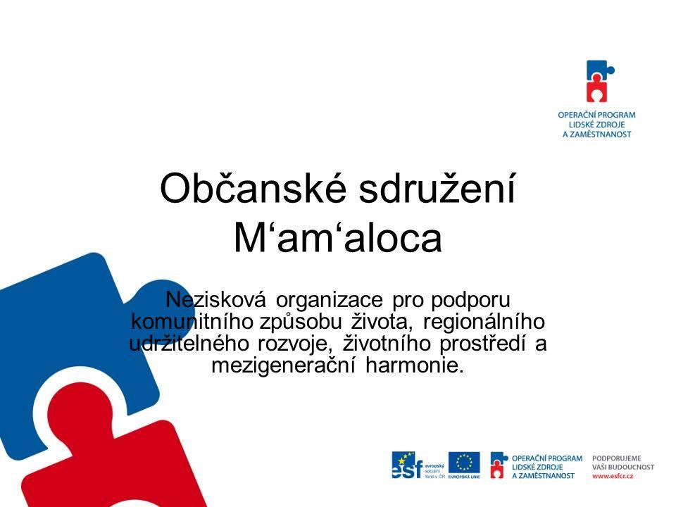 Občanské sdružení M'am'aloca Nezisková organizace pro podporu komunitního způsobu života, regionálního udržitelného rozvoje, životního prostředí a mez