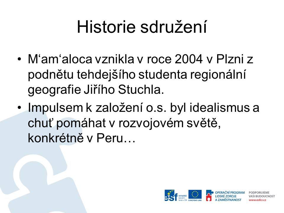 Historie sdružení M'am'aloca vznikla v roce 2004 v Plzni z podnětu tehdejšího studenta regionální geografie Jiřího Stuchla. Impulsem k založení o.s. b