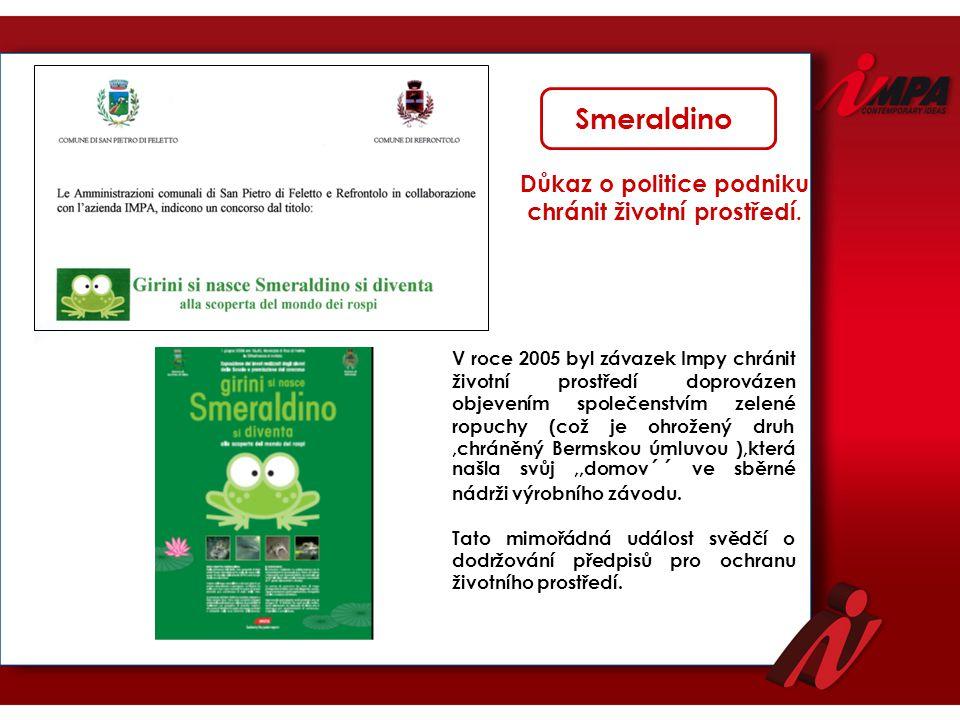 V roce 2005 byl závazek Impy chránit životní prostředí doprovázen objevením společenstvím zelené ropuchy (což je ohrožený druh,chráněný Bermskou úmluv