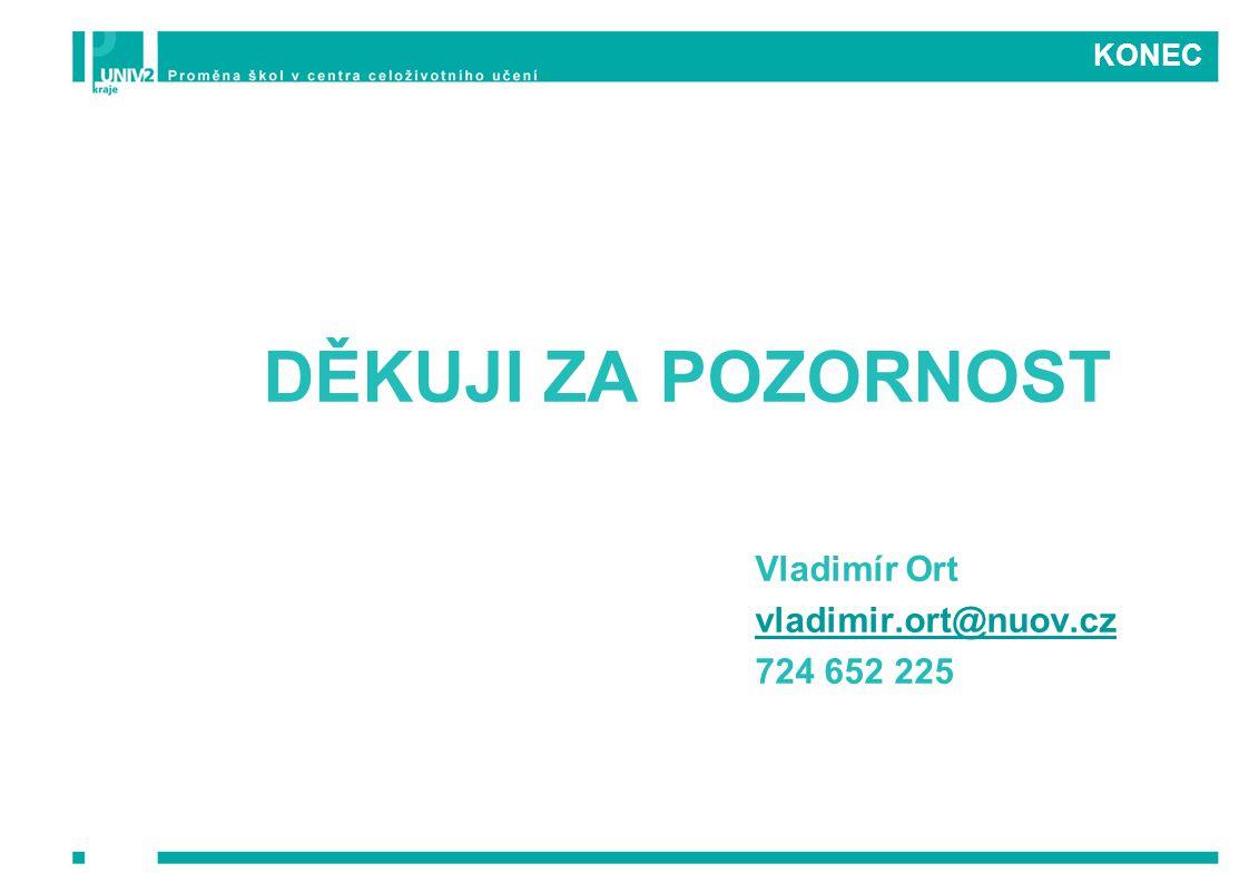 KONEC DĚKUJI ZA POZORNOST Vladimír Ort vladimir.ort@nuov.cz 724 652 225