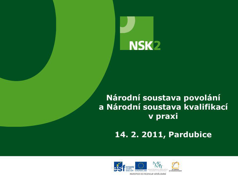 Národní soustava povolání a Národní soustava kvalifikací v praxi 14. 2. 2011, Pardubice
