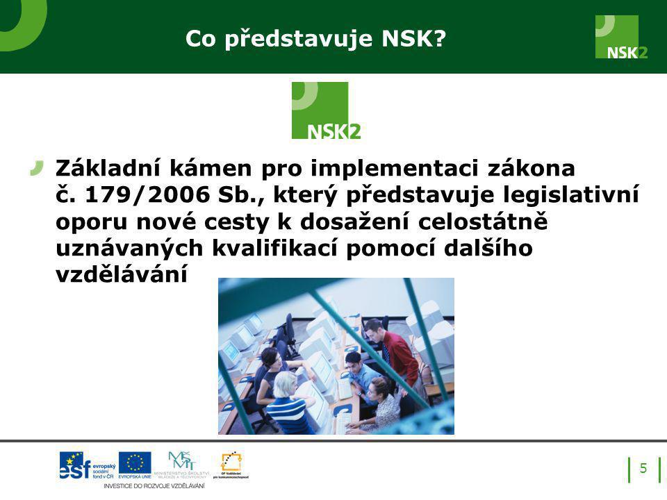 Co představuje NSK. 5 Základní kámen pro implementaci zákona č.