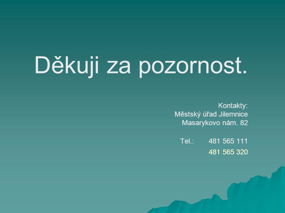Děkuji za pozornost. Kontakty: Městský úřad Jilemnice Masarykovo nám.