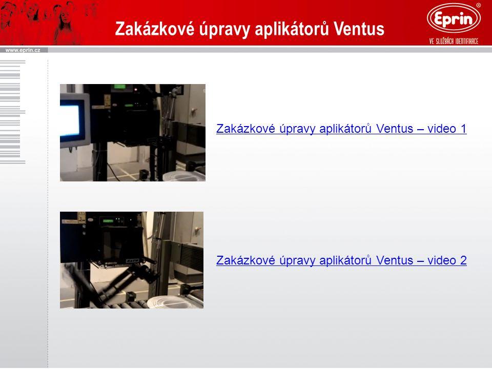Zakázkové úpravy aplikátorů Ventus – video 1 Zakázkové úpravy aplikátorů Ventus – video 2