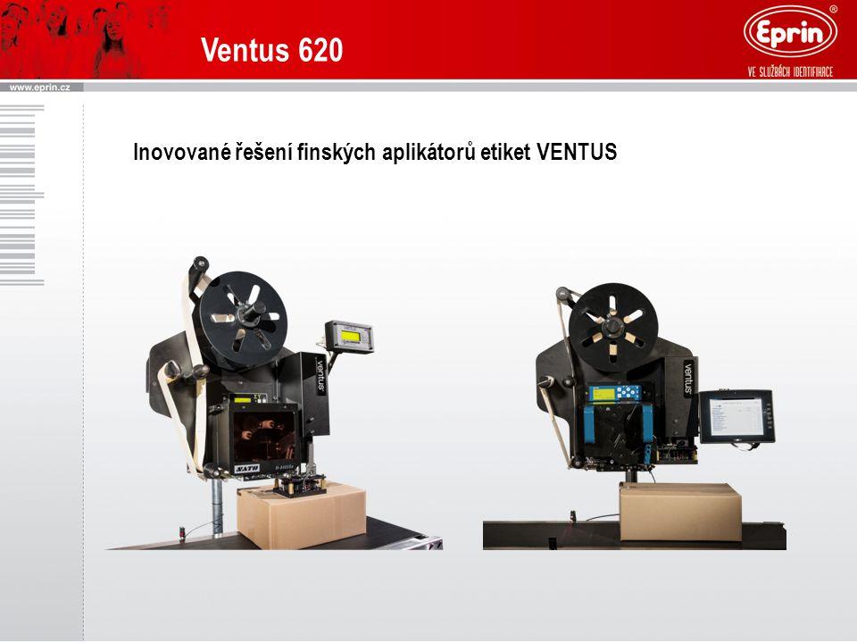 Ventus 620 Inovované řešení finských aplikátorů etiket VENTUS